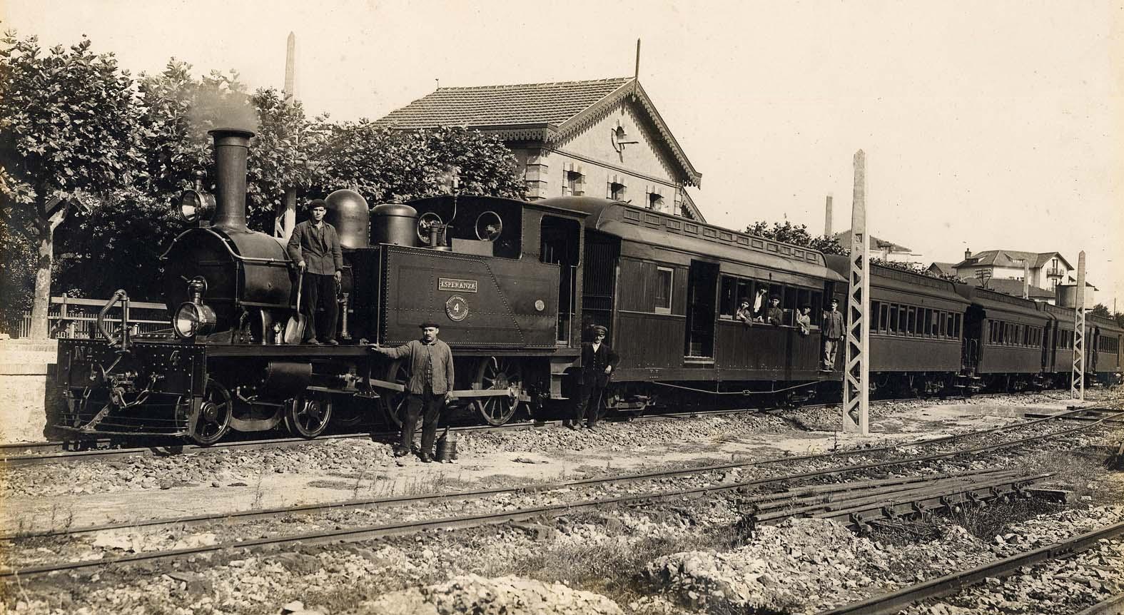 Estacion de Algorta 1927, archivo municipasl de Getxo, fondo J. J. Olaizola