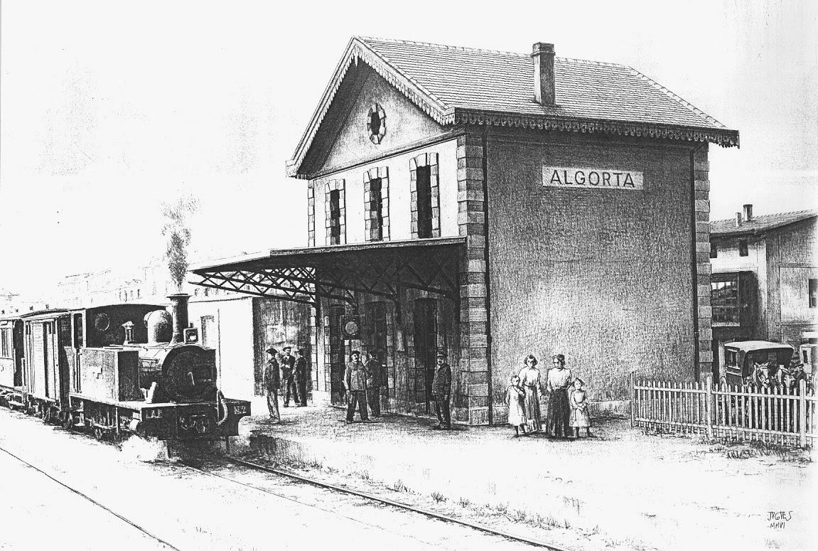 Estacion de Algorta, dibujo de Jose Vicente Coves
