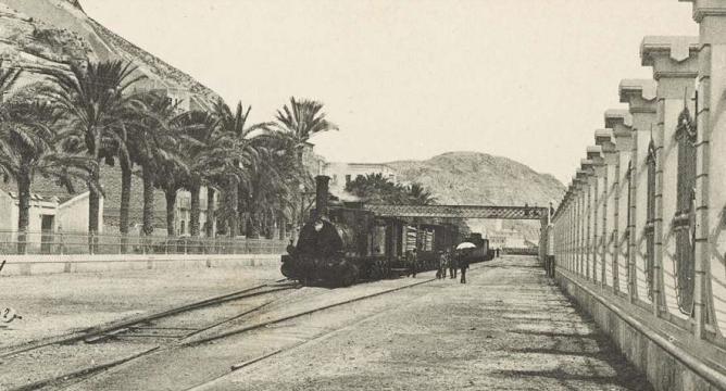 Alicante estación marítima, Biblioteca Valenciana, postal comercial