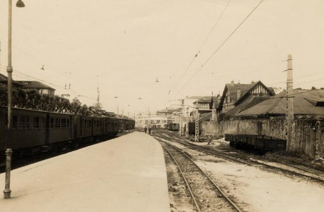 Andenes de la estación de Getxo