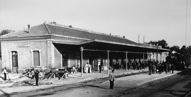 Antigua estación de Albacete , fotografo desconocido