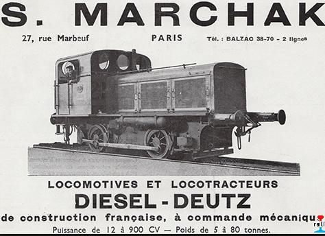 Anuncio de la firma S. Marchak