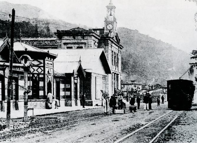 Arriondas a Covadonga , estación de Cangas de Onis
