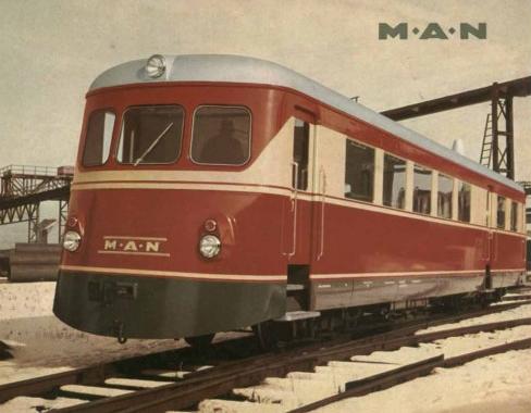 Automotor Diesel MAN a bogies, folleto del fabricante