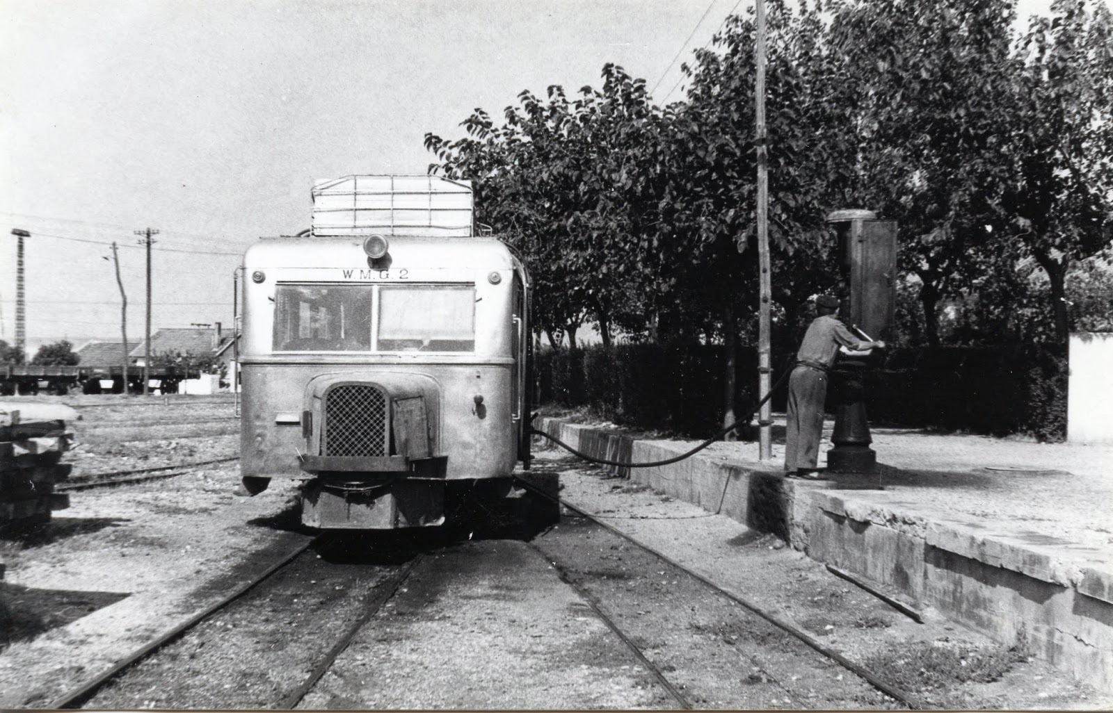 Automotor Wumag nº 2 , fotografia Christian Schnabel , fondo, Museo Vasco del Ferrocarril, Euskotren
