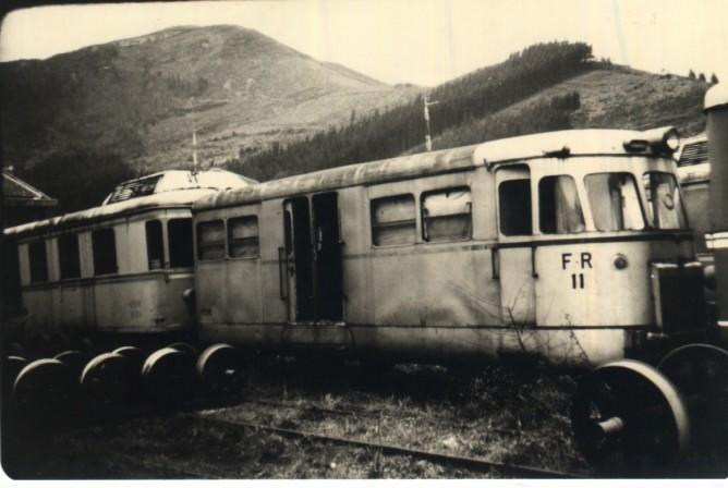 Automotor ex VAY nº 11 en la Robla, feberro de 1978, foto Javier Fernández López