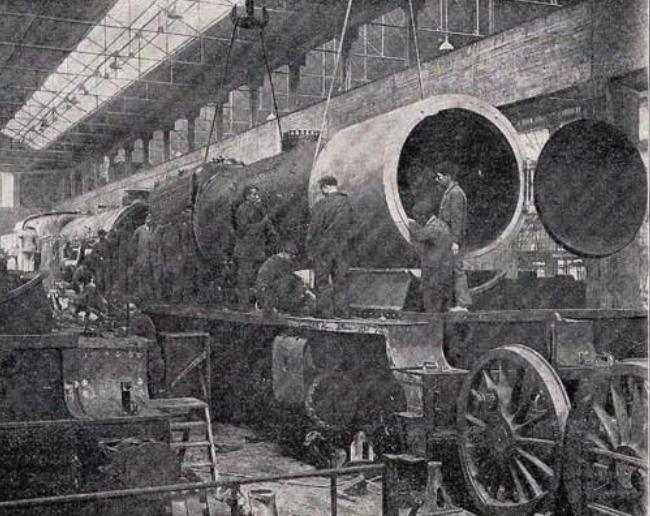 Babcoc & Wilcox , taller de montaje de locomotoras , Revista Ingenieria y Construccion