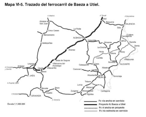 Baeza a Albacete , seccion estudiada en 1932, AGA, fondo de OP caja 1152