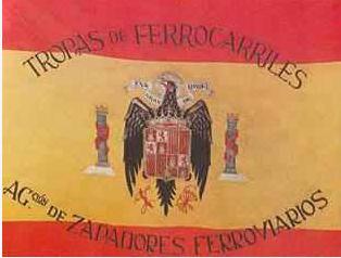 Bandera del REgimiento de Zapadores Ferroviarios en 1941