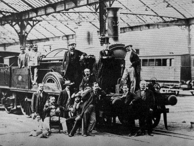 Barcelona á Mataró , miembros del consejo año 1848, fotografo desconocido