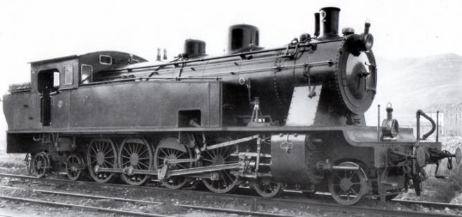 Barcelona á Granollers y San Juan de las Abadesas, foto de fábrica de la locomotora Estado 2-4-2