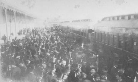 Barcelona a Valls y Vilanova, inauguracion en 1881, fondo MFVG