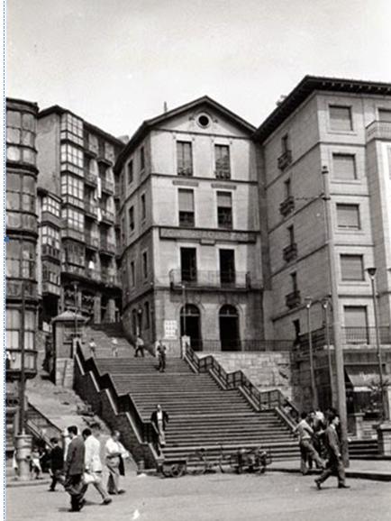 Bilbao Calzadas, foto Juan Bautista Cabrera , fondo MVF-Euskotren