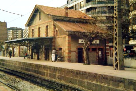 Bilbao a Plencia, estación de Algorta, construida en 1893, archivo Euskotren MVF