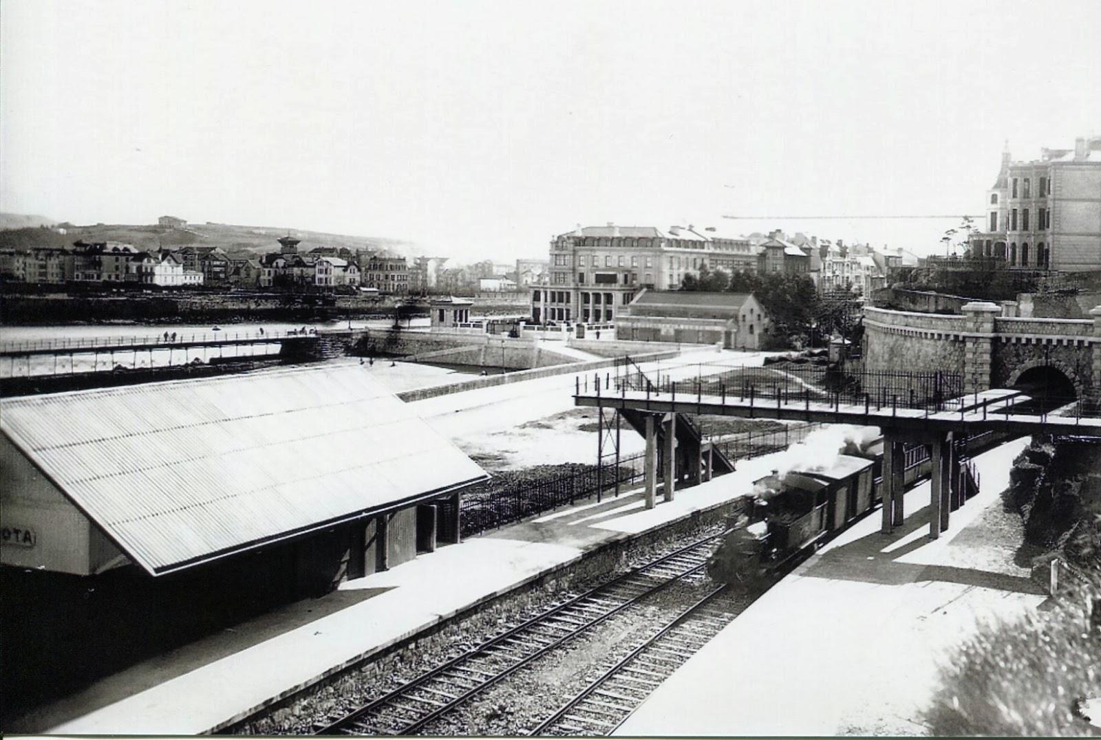 Bilbao a Portugalete , Estacion de La Peñota. fondo Autoridad Portuaria de Bilbao