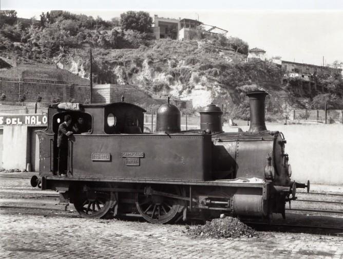 Bilbao a Portugalete, Locomotora Cantalojas, fondo Euskotren MVF