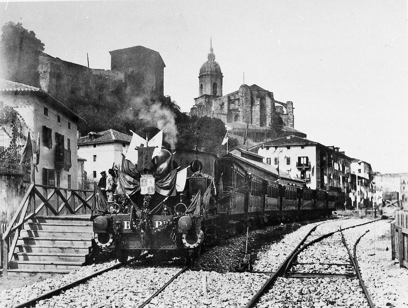 Bilbao a Portugalete Tren inaugural. fondo Juan Jose Olaizola