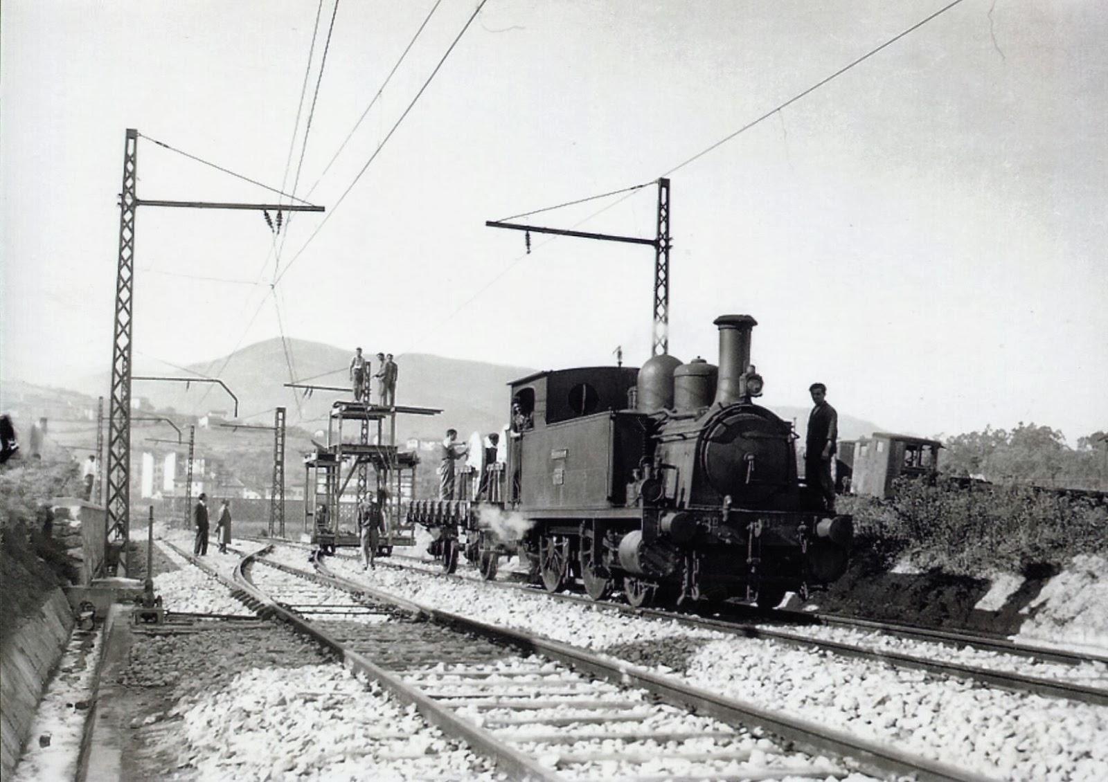 Bilbao a Portugalete, electrificacion del ramal a los muelles de Zorroza, fondo A.P. de B.