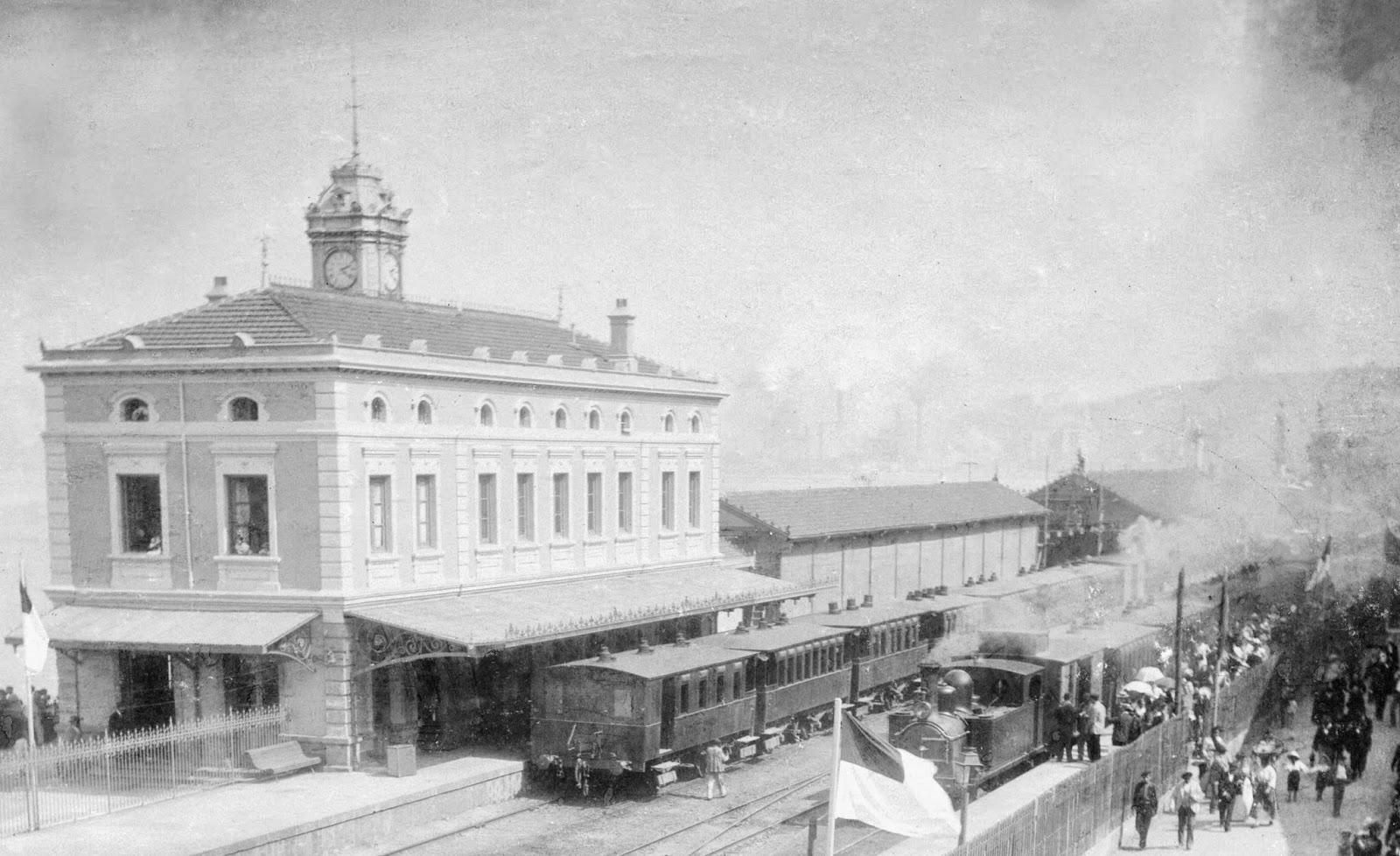 Bilbao a Portugalete , estacion de la Canilla, fondo Museo Vasco del Ferrocarril