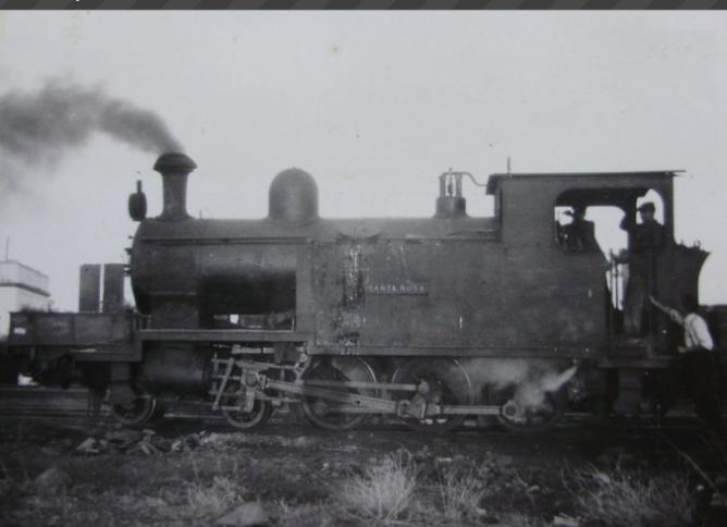 Buitron a San Juan del Puerto ,locomotora SANTA ROSA, año 1959, fondo Gustavo Reder