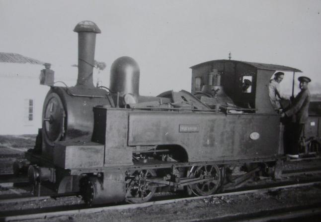 Buitron a San Juan del Puerto , locomotora nº 1, año 1959, Fondo Gustavo Reder