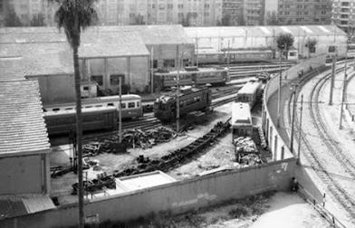 CTFV , talleres de la estación de Pont de Fusta, Santa Mónica , foto Juan José Olaizola Elordi