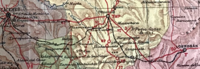 Caceres a Trujillo y Logrosan