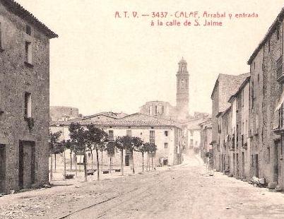 Cala via minera en el centro de la población, postal comercial