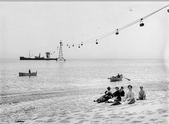 Can Plomeres , final de carga del telefericoi de 500 ml funcionante entre 1909 y 1914, c. 1910, coleccion Roisin, IEFM . ACM-9-7677