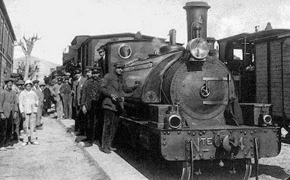 Carcagente a Denia, último tren en Carcagente, autor desconocido