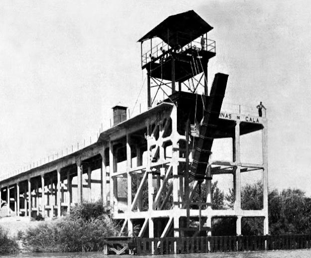 Cargadero de Cala en el Guadalquivir, fondo Gaceta de los Caminos de Hierro 16.11.1905