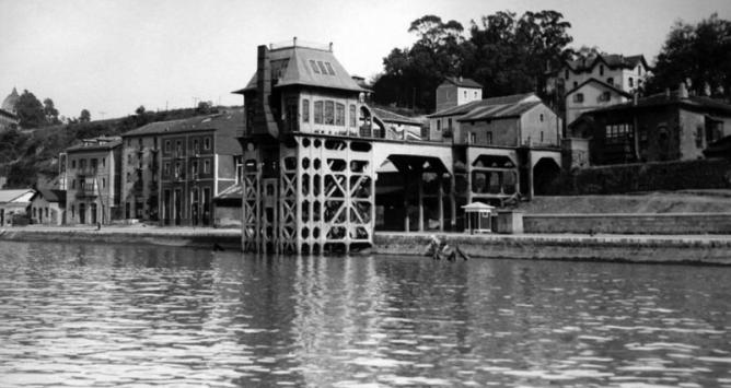 Cargadero de hormigon, de Olabeaga en 1932, ArchivoAutoridad Portuaria de Bilbao