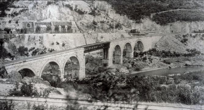 Castro Urdiales a Traslaviña, puente de San Pedro de Galdames, año 1938