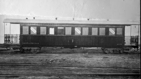 Ceuta a Tetuan , coche unificado de 1ª clase, Archivo Historico de Zaragoza