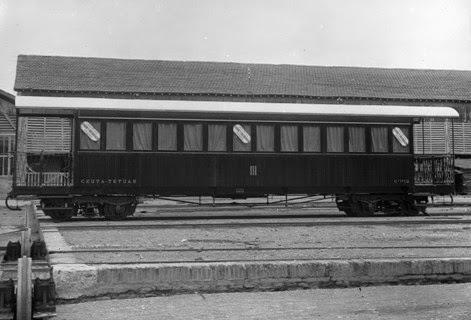 Ceuta a Tetuan coche unificado de 3ª clase, Archivo Historico de Zaragoza
