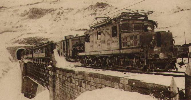 Circulacion en elPuerto de Pajares, Archivo Museo del Ferrocarril de Asturias