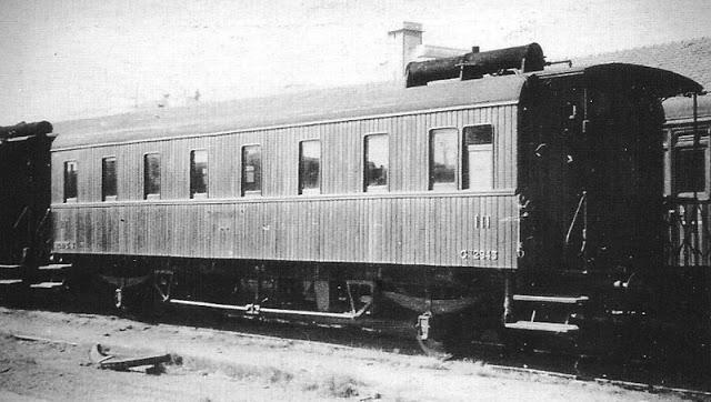 Ex Central de Aragón coche de 3ª clase ( Renfe Cfhv 2943)