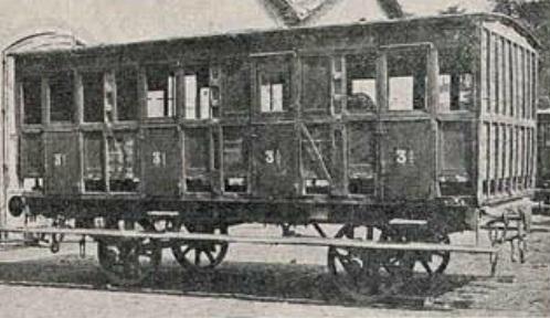 Coche de 3ª clase del Tarragona a Barcelona y Francia , revis I. y C.