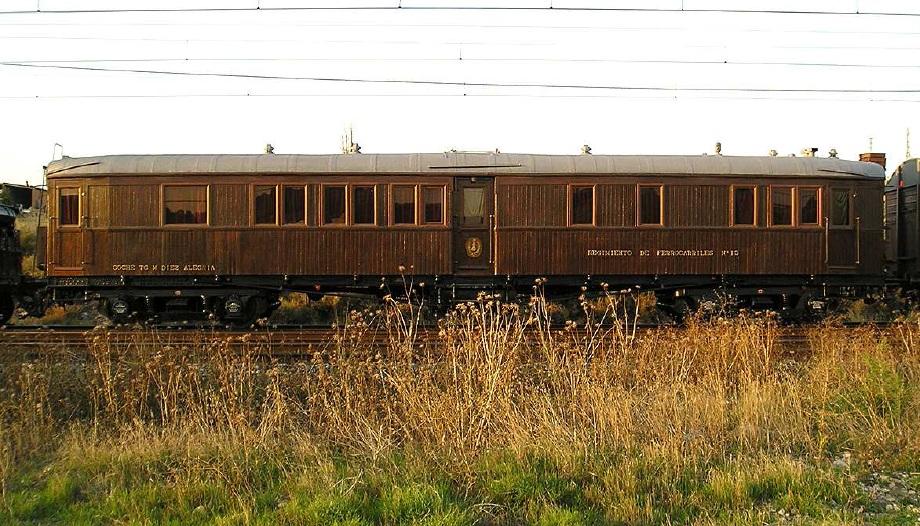 Coche salon del Regimiento de Ferrocarriles nº 13