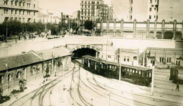 Cocheras de Cuatro Caminos, año 1920.