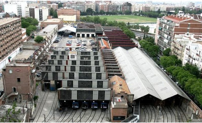 Cocheras del Metro en Cuatro Caminos , Madrid. Foto Mikel Iturralde