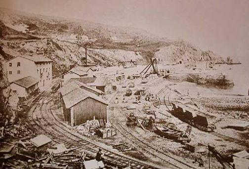 Construcción del puerto de El Musel , coleccion Carlos Roces Felgueroso