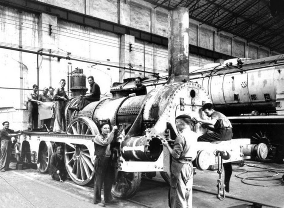 Construccion de la locomotora Mataró , MTM año 1941