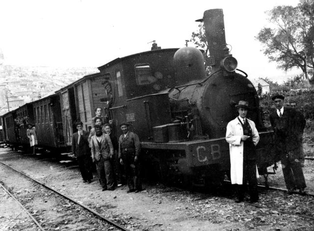 Tren Cortes a Borja, c. 1930. Fotografia Mariano Tejero , Fondo: D. Navarra