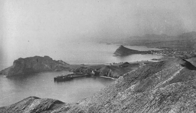 Costa de Aguilas con el embarcaderp de El Hornillo, foto Faydon