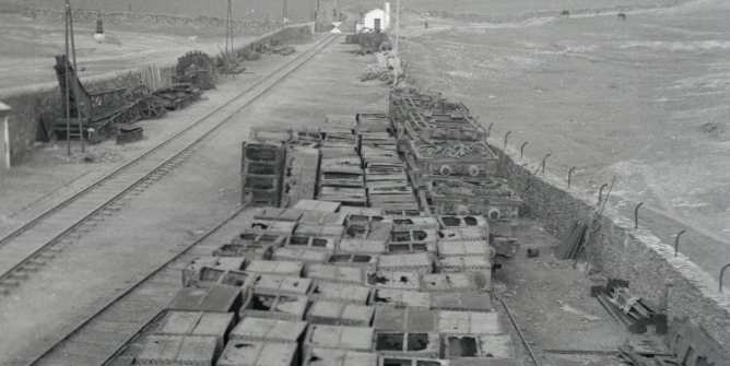 Cubilotes del cargadero de carbón de Valverde del Camino, foto Marta