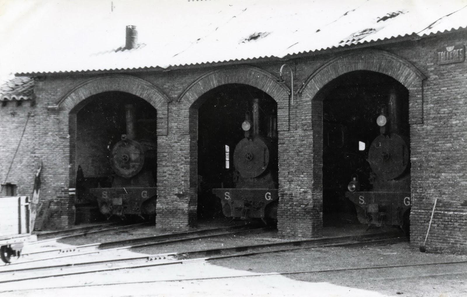 Deposito de locomotoras en Gallur, foto Christian Schnabel