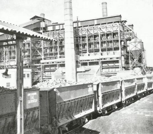 Destileria Calvp Sotelo , año 1959, vagones de pizarra