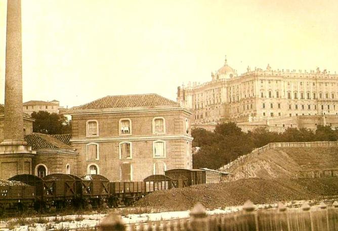 Detalle de la Primitiva estación del Norte en Madrid