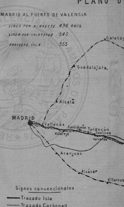 Directo Madrid a Valencia- esquema publicado por El LiBeral, Plano 1